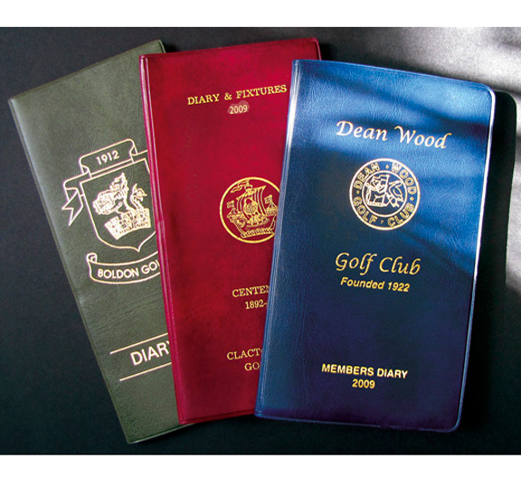 Leatherette covers provide an attractive and durable cover for golf fixture books and golf diaries by K&M Golf