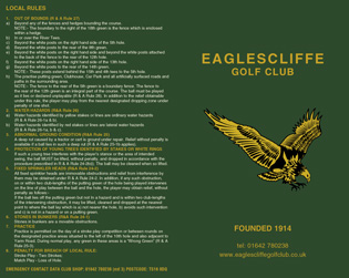 Eaglescliffe Golf Club golf scorecard cover by K&M Golf