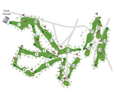 London & Scottish Golf Club overall course map by K&M Golf