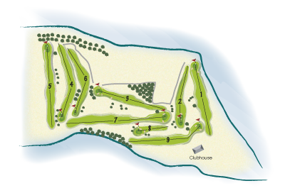 Mahee Island & Scottish Golf Club overall course map by K&M Golf