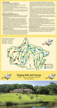 Singing Hills Golf Club golf scorecard cover by K&M Golf