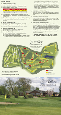 Wellow Golf Club golf scorecard cover by K&M Golf