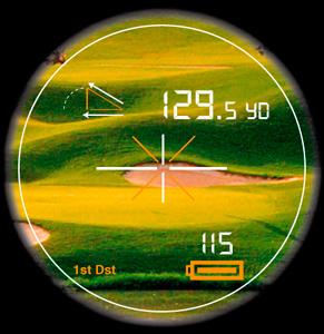 Golf course laser measurement by K&M Golf