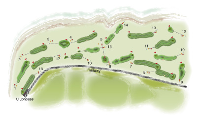Aberdovey Golf Club overall course map set by K&M Golf