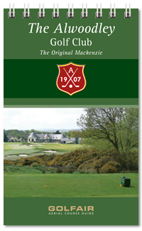 Alwoodley Golf Club spiral bound yardage book printed on premium card stock by K&M Golf