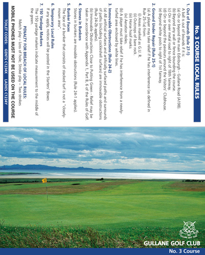 Gullane Golf Club golf scorecard cover by K&M Golf