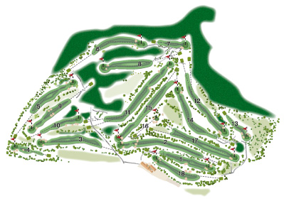 Middlesbrough Brass Castle Golf Club overall course map by K&M Golf