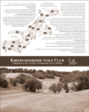 Kirkbymoorside Golf Club emergency golf scorecard cover by K&M Golf