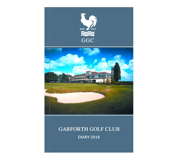 Leather texture card printed with silver ink cover for golf fixture books and golf diaries by K&M Golf