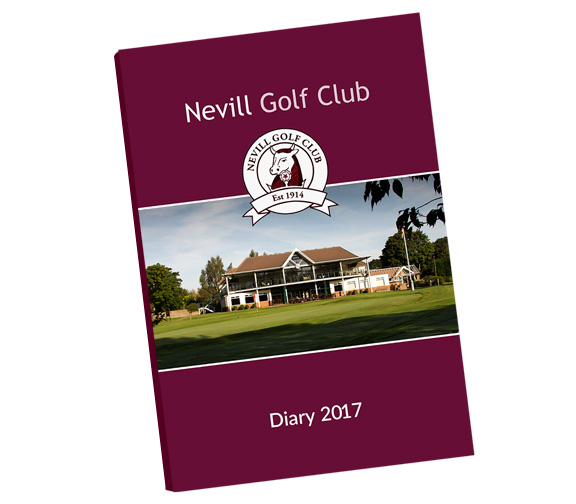 Perfect bound covers provide an attractive and durable cover for golf fixture books and golf diaries by K&M Golf