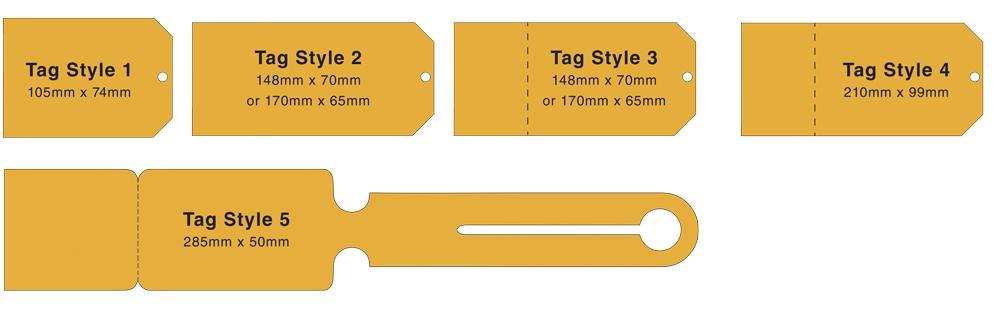 Green fee tag sizes